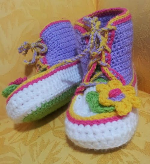 crochet adult gym booties