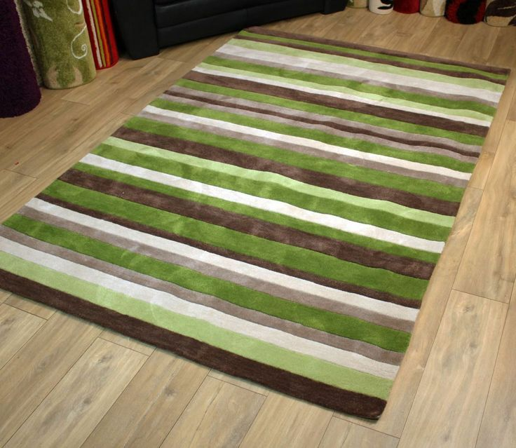 Modern Style Rugs Hong Kong Green Brown 150cm X 230cm 89 95
