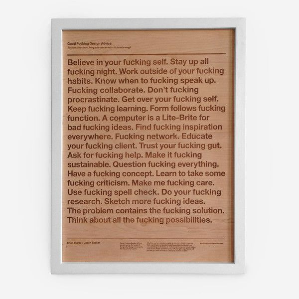 Classic Advice <br/>Framed Wood Engraving