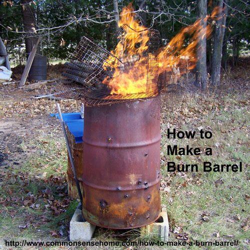 How To Make A Burn Barrel Burn Safe With Less Smoke
