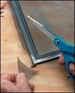 direction on making window screens