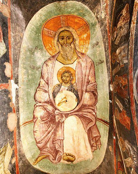 Trinity icon in Koumbelidiki, Kastoria, Greece