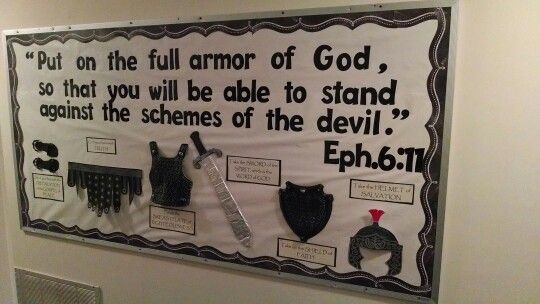 Classroom Door Decoration Images ~ Armor of god bulletin board boards pinterest