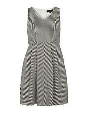 Monochrome Stripe Prom Dress