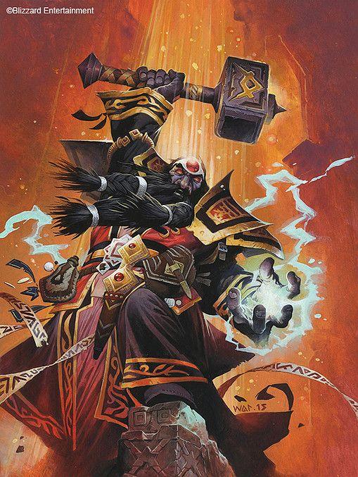 Dwarven Emperor Thaurissan. Hearthstone online game. Art by Wayne Reynolds