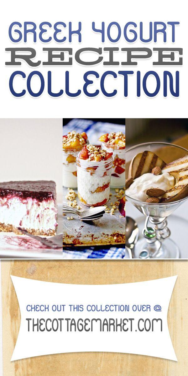Greek Yogurt Dessert Recipe Collection - The Cottage Market #GreekYogurt, #GreekYogurtRecipes, #GreekYogurtDesserts