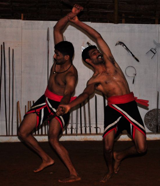 Indian Martial Arts - Kalari or Kalarippayattu is the only form of the most ancient traditional systems of physical, culture, self-defence and martial techniques still in existence. It had its origin in Kerala, the tiny state situated South West of India. The traditional training of Kalarippayattu, a martial art of Kerala states in south India, is always done inside the Kalari (literally, threshing floor or battlefield), which is a specially constructed practice area.