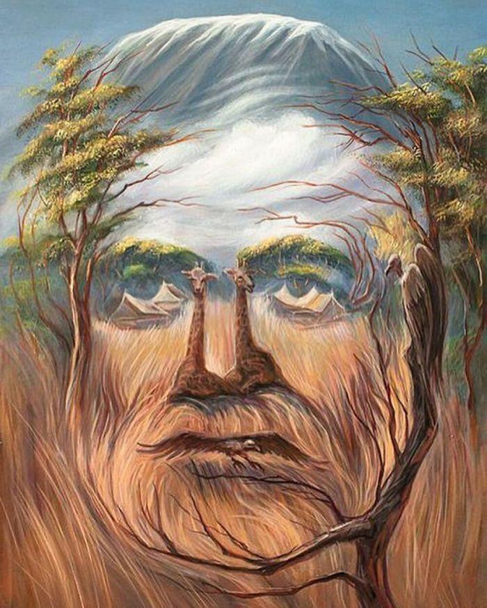 Лабрадор, картинки с двойным изображением природа