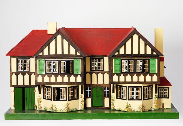 George and Joseph Lines were the most important British toy makers of the 19th century, known as the Lines Bros. They made rocking horses and other toys and by the end of the century were producing a large number of dolls' houses of different types. The earliest surviving catalogues, which date from   the early 20th century, show solid-looking town houses and mansions.