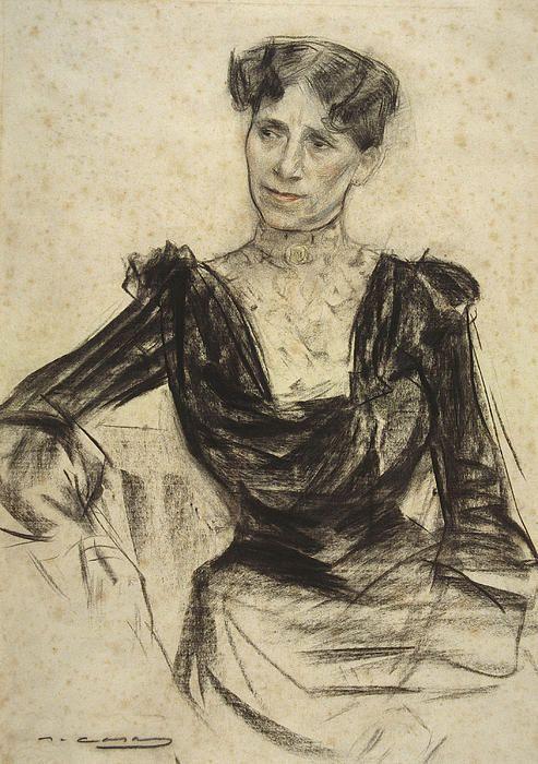 Portrait Of Pauleta Pamies Ramon Casas