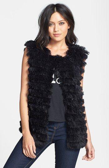 Lark Tiered Tassel Vest | Nordstrom: Tassels Vest, Outfits, Faux Fur Vests, Infinite Vest, Tiered Tassels, Black Tiered, Get The Look, Lark Tiered