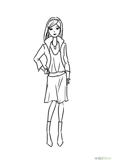 17 Best Images About Fashion Croquis On Pinterest