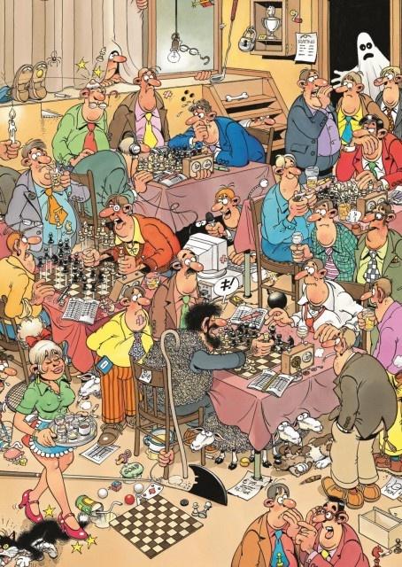 Jan van Haasteren: De Schaakclub (500 stukjes)