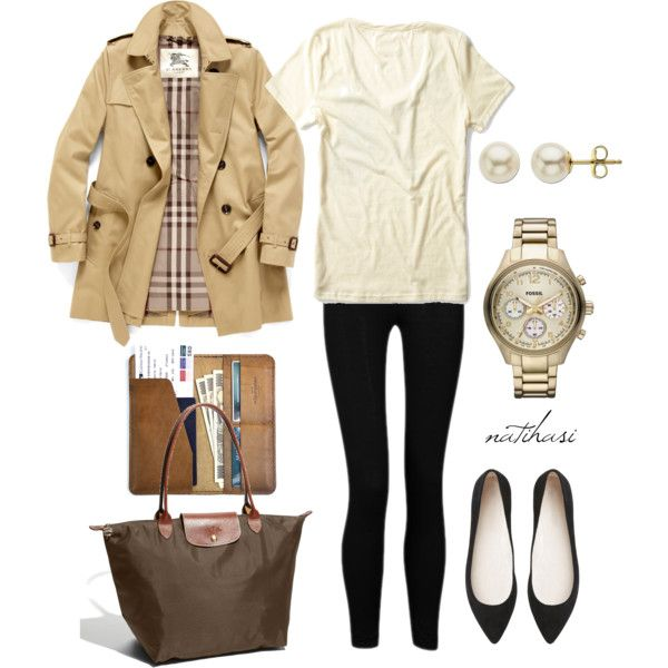 """Comfy but classy travelling Outfit"" by natihasi on Polyvore"