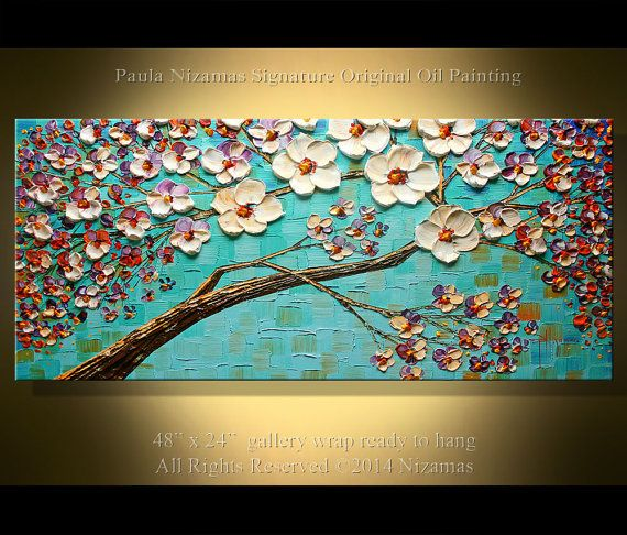 Tree Painting  painting abstract painting large by Artcoast, $380.00