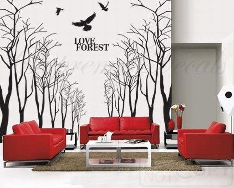 Super Big Tree Wall Decals Trees Wall Stickers Living Room Decals Office  Wall Decors  Love