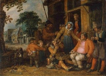 David Vinckenboons. Le vendeur de guimbardes (Еврей, продающий арфу) (1614, Royal Museums of Fine Arts of Belgium)