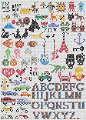 Cross-Stitch Ideas -- The Mint House (Japanese)