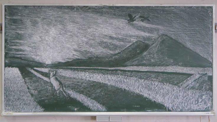 karatahta sanati resim yarisma tebesir japonya 16