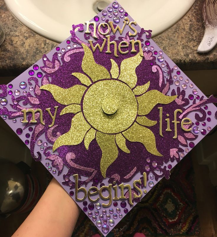 Took many hours but I couldn't be happier with my grad cap! #disney #gradcap