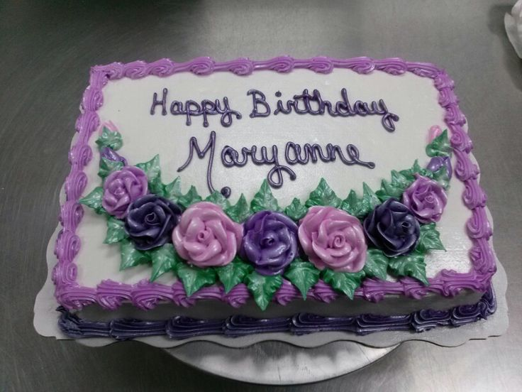 Sheet Cake With Happy Birthday At Sam S Club