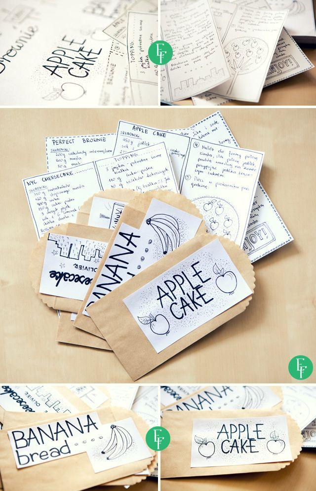esik floresik: A Paper Bag Cookbook - Książeczka kucharska z papierowych torebek #paperbag #giftidea #gift #cookbook #recipes #doityourself #diy #diyproject #handmadegift #happybirthday #birthday