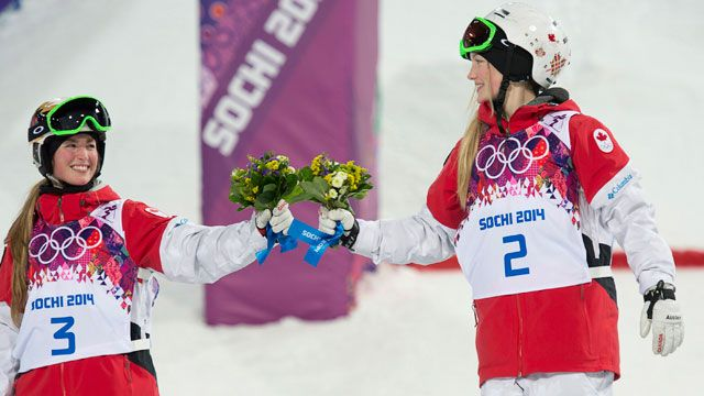 Podium Sisters #sochi #wearewinter #olympics #canada