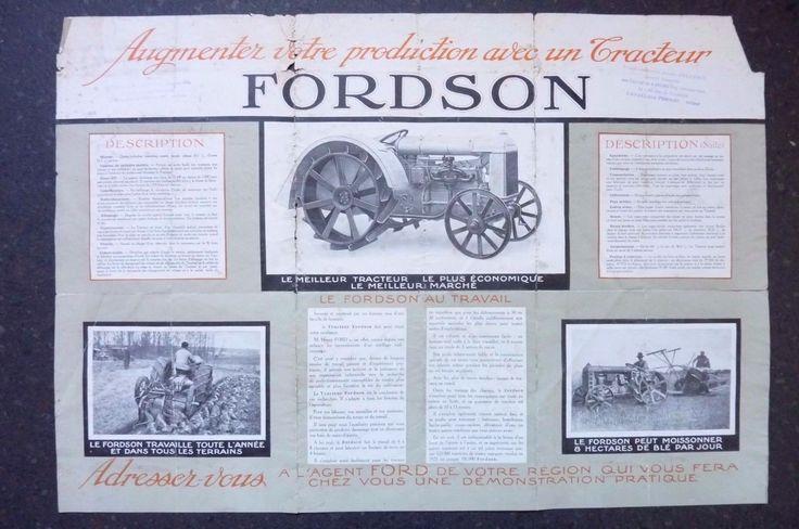 TRACTEUR H FORD FORDSON PUBLICITE Réf 02 | Collections, Objets publicitaires, Publicités papier | eBay!