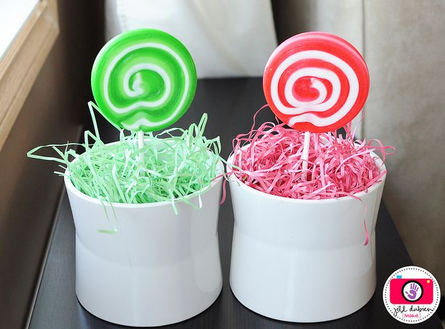 """Give your child a """"magic jelly bean"""" the night before easter. Have them """"plant"""" that jelly bean in a flower pot with easter grass in it before going to sleep. After they are asleep, dispose of the jelly bean and replace with a lolipop! Such a cute idea!"""
