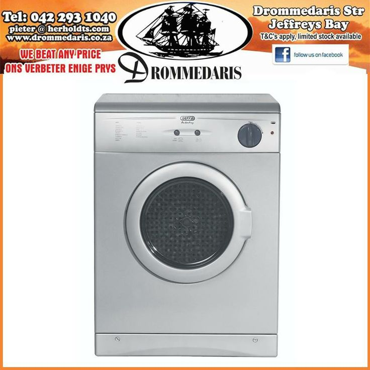 Warm up your Winter with this Defy Front Loader tumble dryer, it has a door safety switch and is very user friendly. This tumble dryer was made to simplify your lifestyle. #homeimprovement #appliances