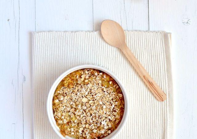 Lekker voedselzandloper recept voor appeltaart havermout uit de oven.