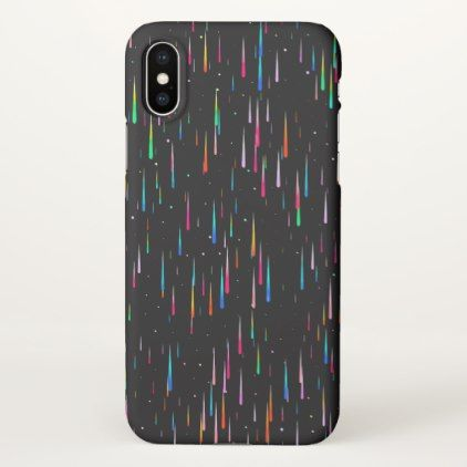 meteor rain iPhone x case - party gifts gift ideas diy customize