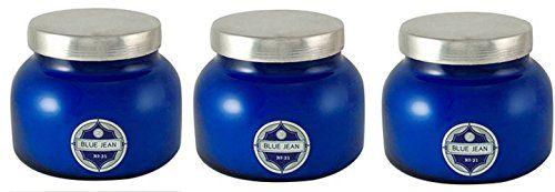 Aspen Bay Capri Blue Jar HFfUVN Candle 19 Ounce, Blue Jean (Pack of 3)
