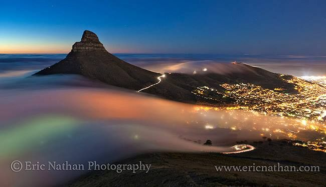 Awesome time lapse of fog moving over Cape Town [video]   #CapeTown #travel