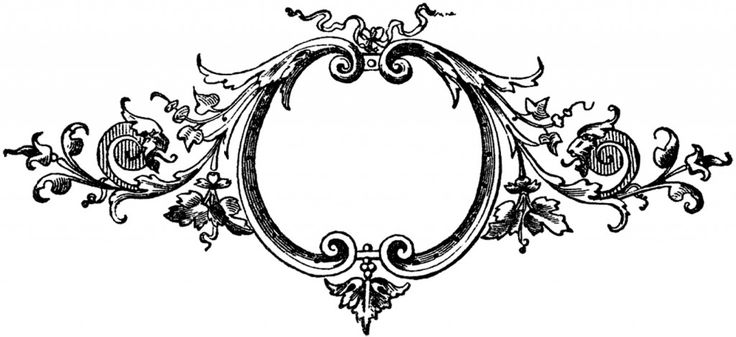 Baroque Printers Ornaments - Frame - The Graphics Fairy