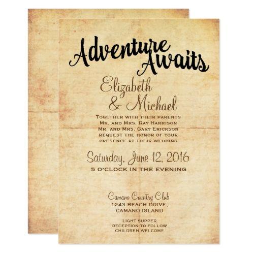 18 best wanderlust wedding invitation images on pinterest wanderlust wedding invitation rustic vintage adventure travel wedding invitation stopboris Choice Image