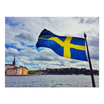 Sweden flag poster - diy cyo personalize design idea new special custom