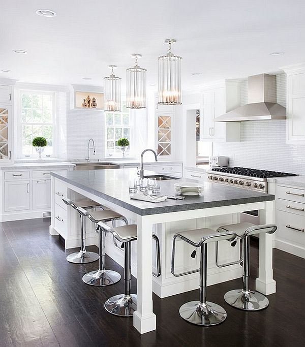 5 Awesome Kitchen Styles With Modern Flair Islandskitchen Island Seatingkitchen Counter Chairswhite
