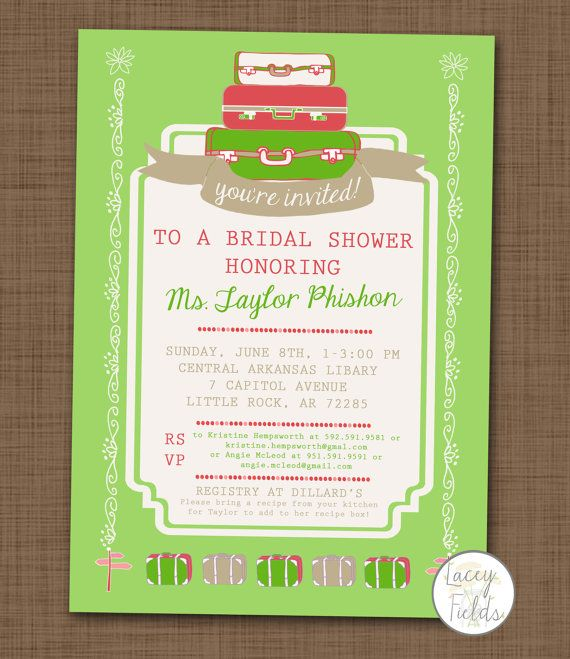 Travel bridal shower invitation printable by laceyfields on Etsy, $10.00