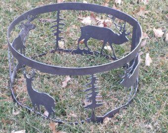 Metal CNC 4' Portable Fire Pit Ring