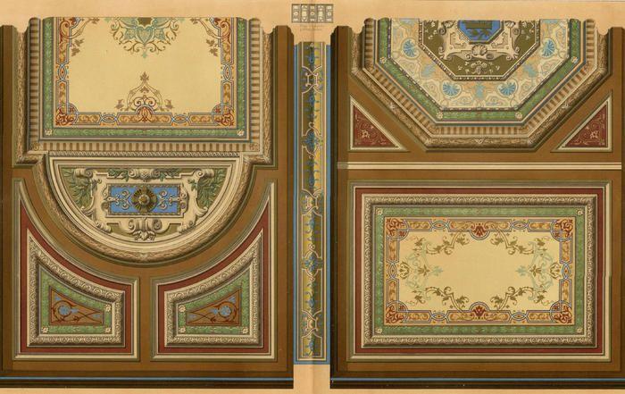 Paris Clary Salle Concert Herz - Architecture César Daly lithographie Décoration