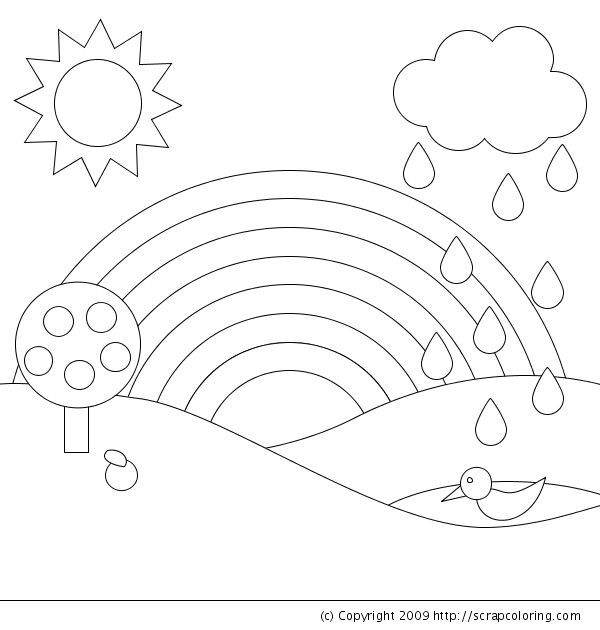 R is for rainbow! [coloring page]
