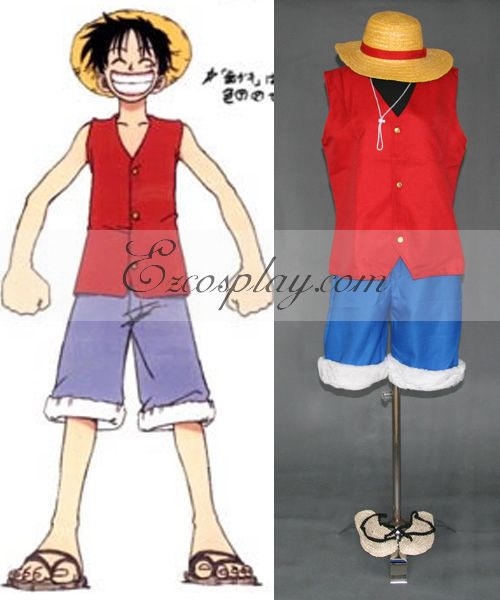 One Piece Luffy 1st Cosplay Set   Hat   Sandals #Everyone Can Cosplay! Cosplay…