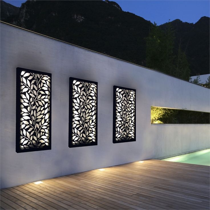 Wood Wall Outdoor Privacy Screens