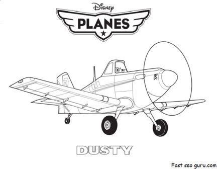 Printable Disney Planes Dusty Coloring Page