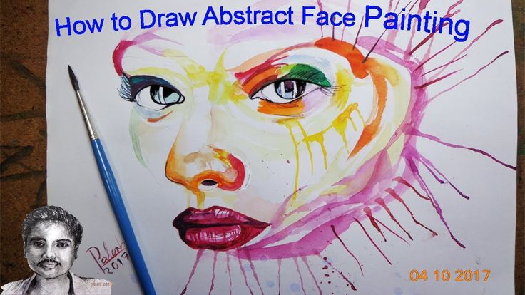 How to Drawing Face | Abstract Face Painting