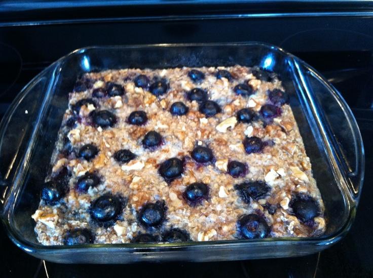Blueberry Baked Oatmeal | Breakfast♥ | Pinterest