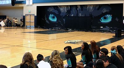 high school mural ideas gym panthers | ... westminster high school s gym the eyes follow you last week the school