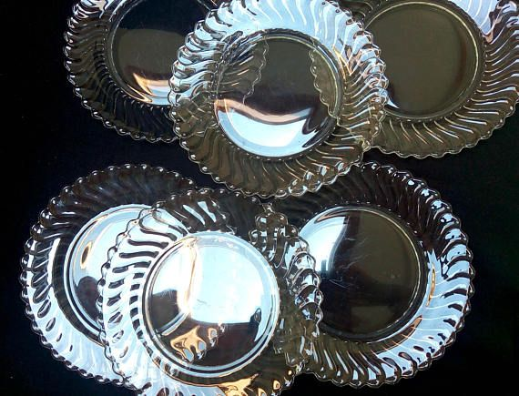 Reserved 4 Sam Fostoria Glass Colony Pattern SET OF SIX