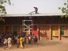 Installing a solar light system in Gando  (Burkina Faso, West Africa)